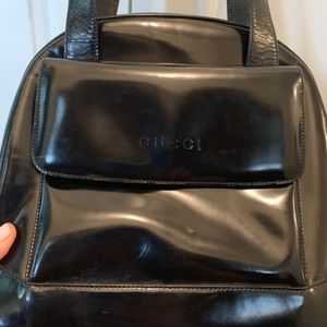 Authentic Gucci Black Patent Shoulder Bag-Gorgeous
